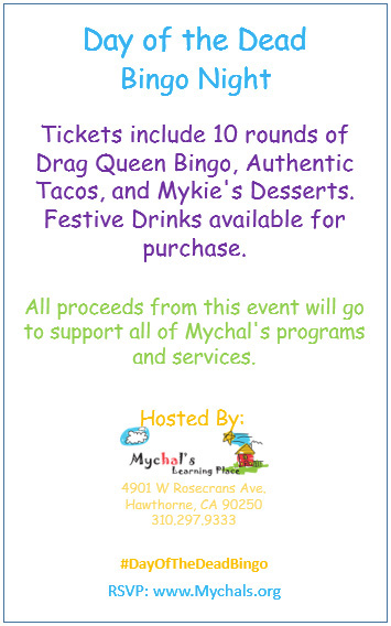 Mychal's Day of the Dead Bingo Fundraiser