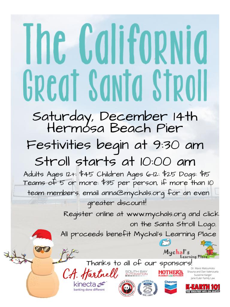 Santa Stroll Poster 2019