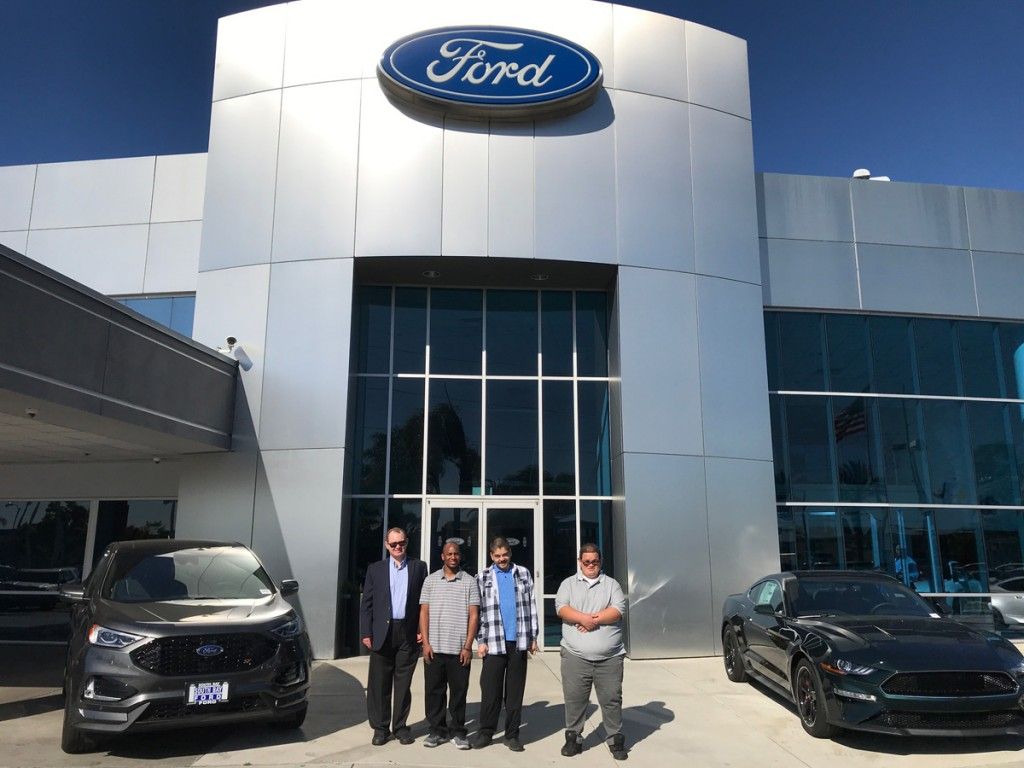 Mychal's Learning Place autistic student Angel Villa works at South Bay Ford